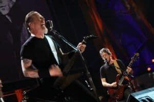James Hetfield e Lou Reed