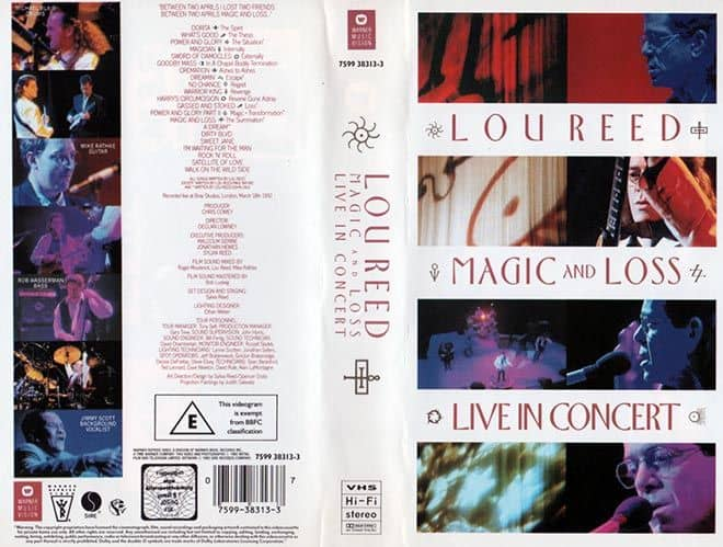 Magic and Loss Live in Concert VHS