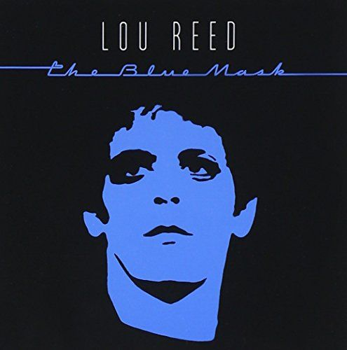 Lou Reed blue mask cover copertina